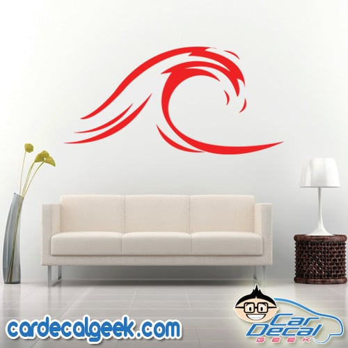 Ocean Wave Wall Decal Sticker