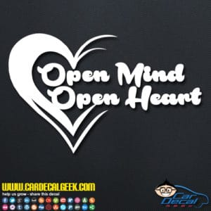 Open Mind Open Heart Decal Sticker