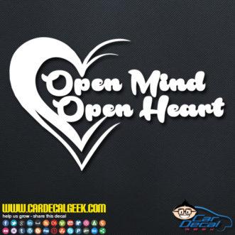 Open Mind Open Heart Decal Sticker