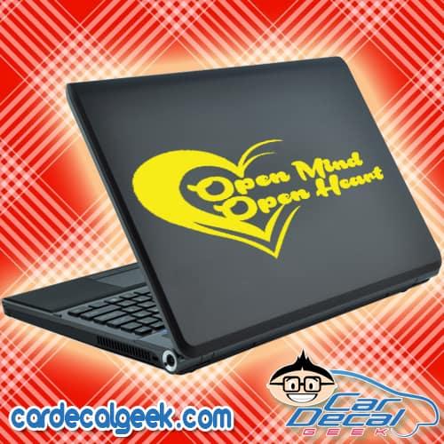 Open Mind Open Heart Laptop MacBook Decal Sticker