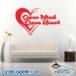 Open Mind Open Heart Wall Decal Sticker