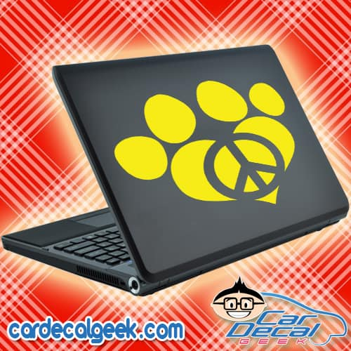 Peace Love Dog Paw Laptop MacBook Decal Sticker