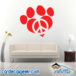 Peace Love Dog Paw Wall Decal Sticker