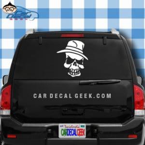 Pimp Hat Skull Car Window Decal Sticker