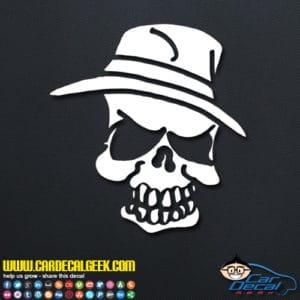 Pimp Hat Skull Decal Sticker