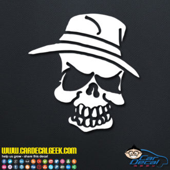 Pimp Hat Skull Decal Sticker
