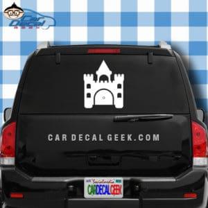 Princess Castle Car Window Decal Sticker