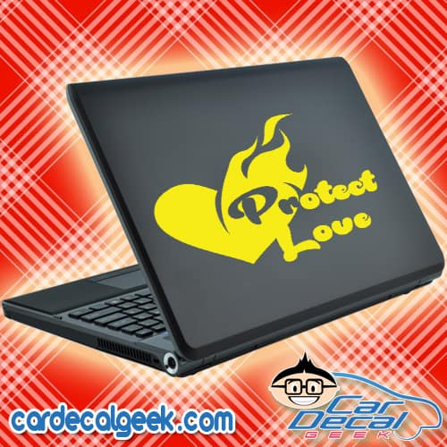 Protect Love Laptop MacBook Decal Sticker