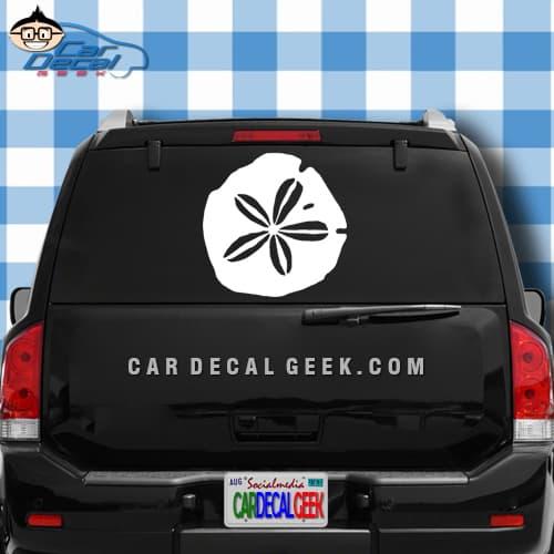 Sand Dollar Car Window Decal Sticker