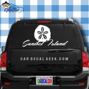 Sanibel Island Sand Dollar Car Window Decal Sticker