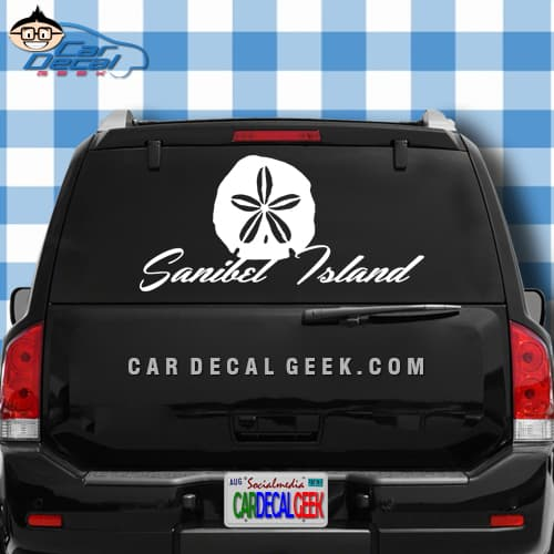 Sanibel Island Sand Dollar Car Window Decal Sticker
