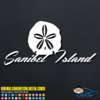 Sanibel Island Sand Dollar Decal Sticker