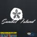 Sanibel Island Sand Dollar Decal Sticker