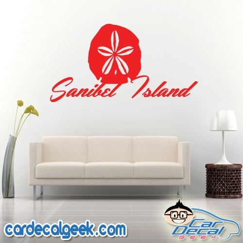 Sanibel Island Sand Dollar Wall Decal Sticker