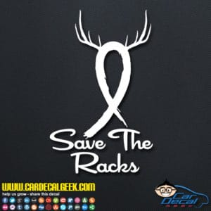 Save The Racks Cancer Ribbon Decal Sticker