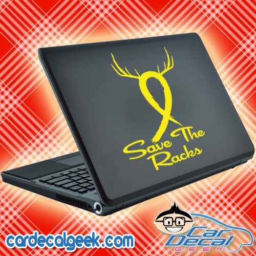 Save The Racks Cancer Ribbon Laptop MacBook Decal Sticker