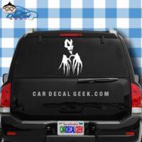 Scary Skull Hands Car Window Decal Sticker