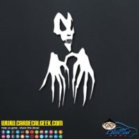 Scary Skull Hands Decal Sticker