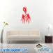 Scary Skull Hands Wall Decal Sticker