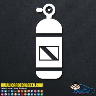 Scuba Tank Decal Sticker