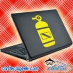 Scuba Tank Laptop MacBook Decal Sticker
