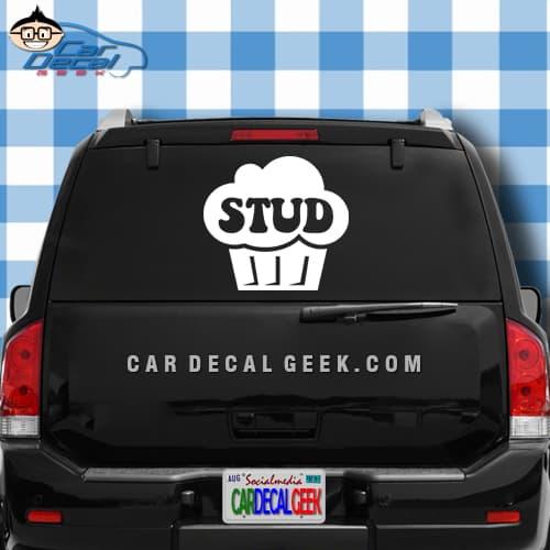Stud Muffin Car Window Decal Sticker