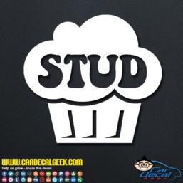 Stud Muffin Decal Sticker