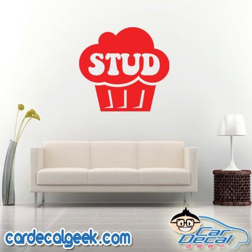 Stud Muffin Wall Decal Sticker