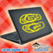 Toes In The Sand Girl Flip Flops Laptop MacBook Decal Sticker