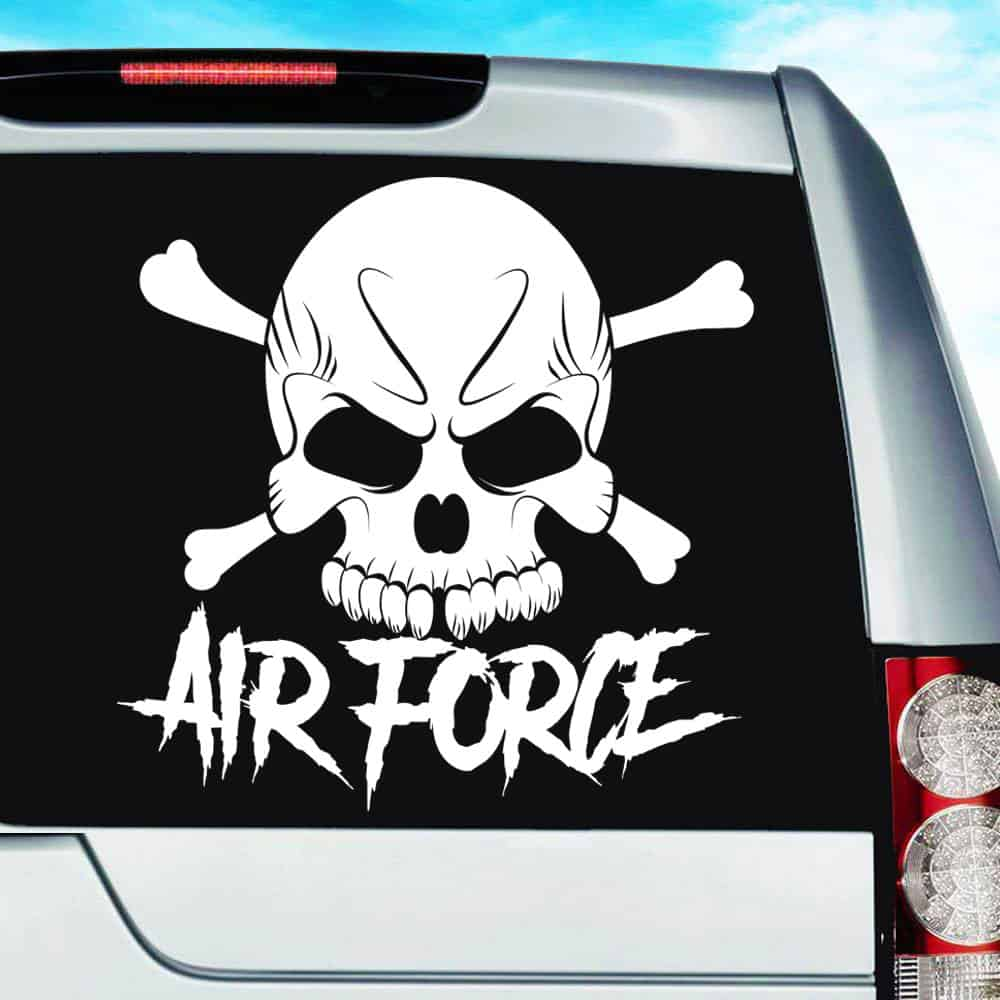 Air force skull vinyl car window decal sticker
