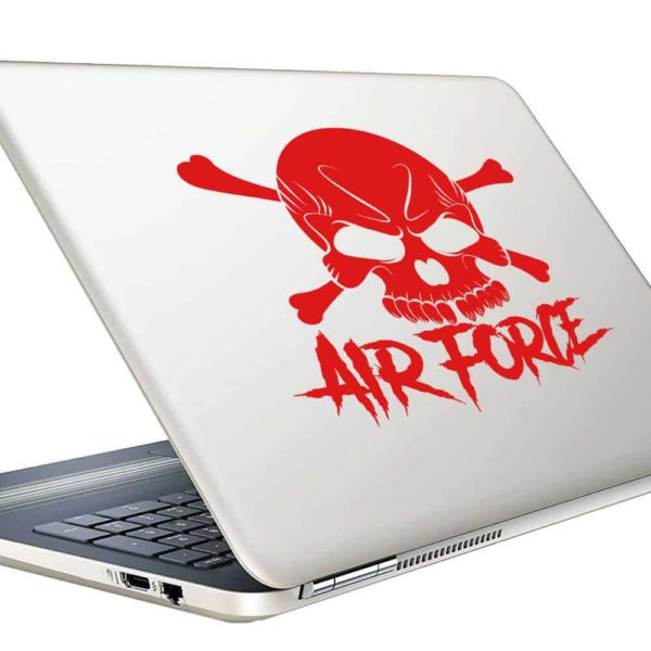 Air Force Skull Vinyl Laptop Macbook Decal Sticker