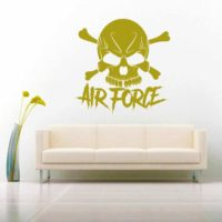 Air Force Skull Vinyl Wall Decal Sticker