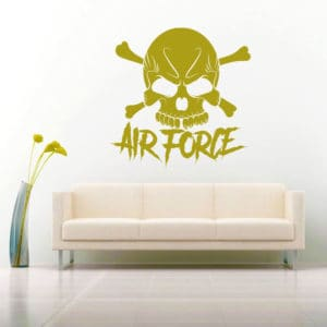 Air Force Skull Vinyl Wall Decal Sticker