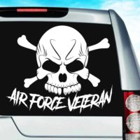 Air Force Veteran Skull Vinyl Car Window Decal Sticker