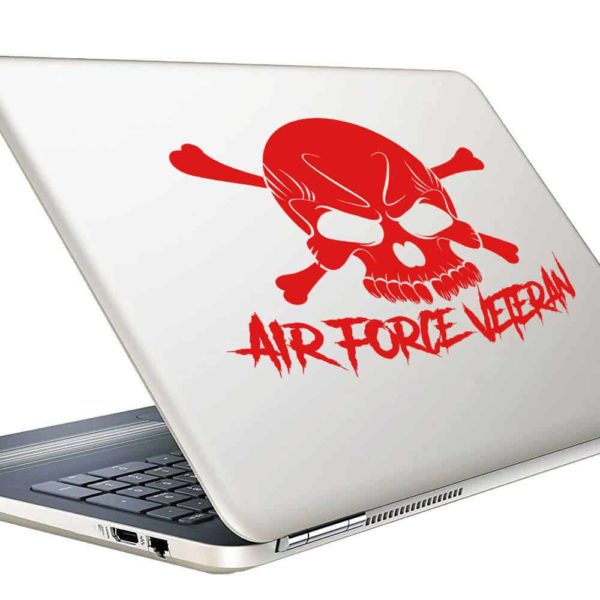 Air Force Veteran Skull Vinyl Laptop Macbook Decal Sticker