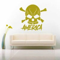 America Skull Vinyl Wall Decal Sticker