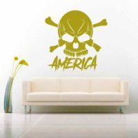 America Skull Vinyl Wall Decal Sticker