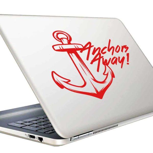Anchors Away Anchor Vinyl Laptop Macbook Decal Sticker