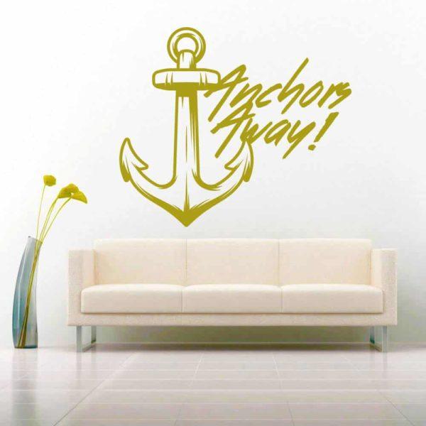 Anchors Away Anchor Vinyl Wall Decal Sticker
