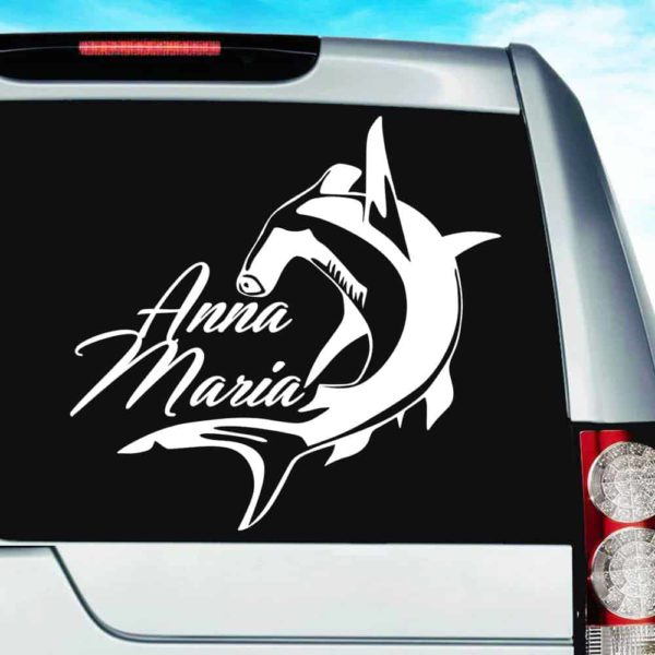 Anna Maria Island Hammerhead Shark Vinyl Car Window Decal Sticker