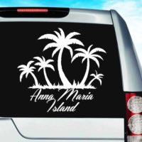 Anna Maria Island Palm Tree Island Vinyl Car Window Decal Sticker