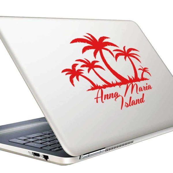 Anna Maria Island Palm Tree Island Vinyl Laptop Macbook Decal Sticker