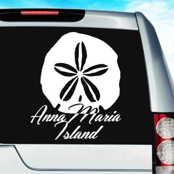Anna Maria Island Sand Dollar Vinyl Car Window Decal Sticker