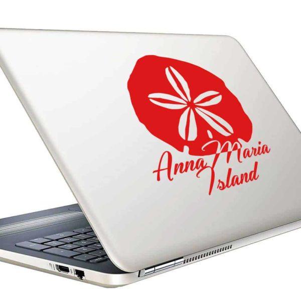 Anna Maria Island Sand Dollar Vinyl Laptop Macbook Decal Sticker