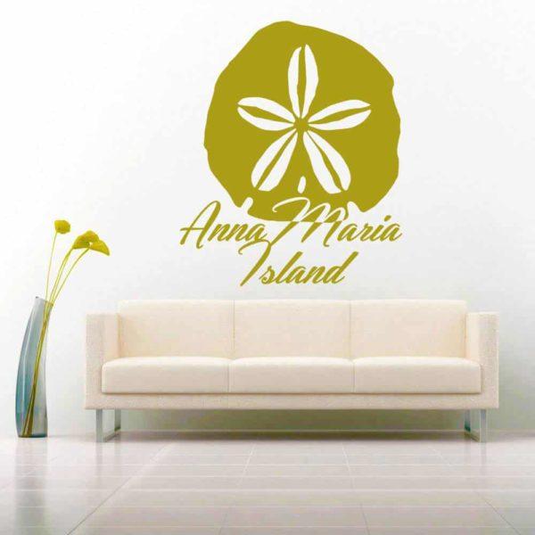 Anna Maria Island Sand Dollar Vinyl Wall Decal Sticker