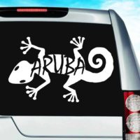 Aruba Lizard Vinyl Car Window Decal Sticker