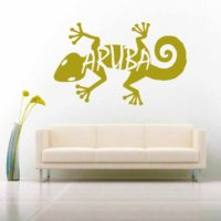 Aruba Lizard Vinyl Wall Decal Sticker