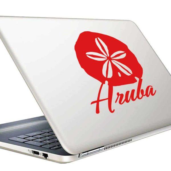 Aruba Sand Dollar Vinyl Laptop Macbook Decal Sticker