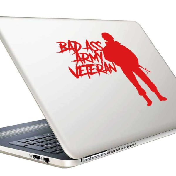 Bad Ass Army Veteran Vinyl Laptop Macbook Decal Sticker