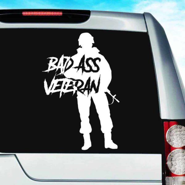 Bad Ass Veteran Vinyl Car Window Decal Sticker